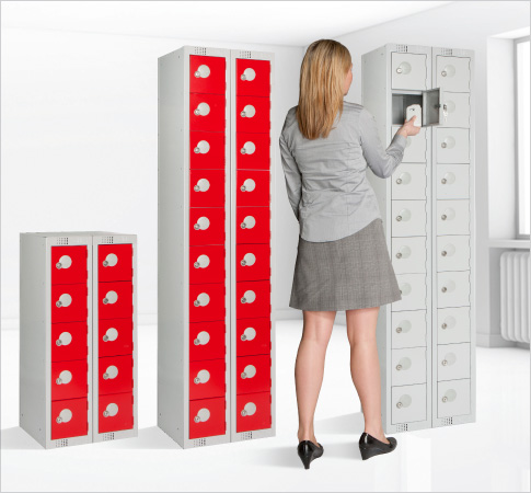 personal effects lockers floor standing