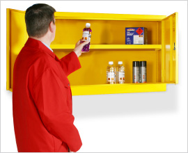 dangerous substance wall mounted cabinets
