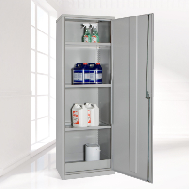 slim hazardous substance coshh cabinet